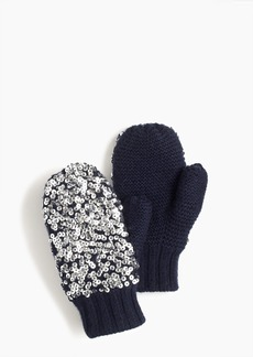 J.Crew Girls' knit mittens with sequins