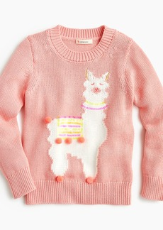 J.Crew Girls' llama popover sweater