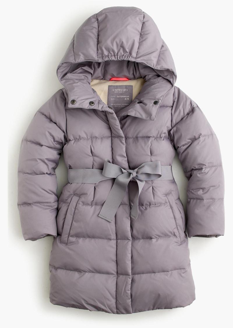 16952ae5021ee SALE! J.Crew Girls  long powder puffer coat