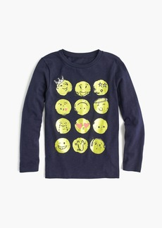 J.Crew Girls' long-sleeve emoji T-shirt