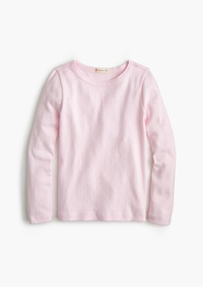 J.Crew Girls' long-sleeve pointelle T-shirt
