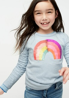 J.Crew Girls' long-sleeve rainbow T-shirt with flippable sequins