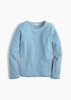 J.Crew Girls' long-sleeve ribbed T-shirt in stripe