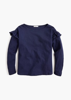 J.Crew Girls' long-sleeve T-shirt with ruffles