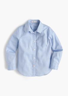 J.Crew Girls' long-sleeve tissue oxford shirt