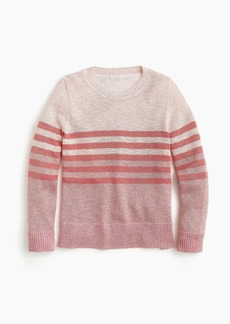 J.Crew Girls' Lurex® crewneck sweater in stripes