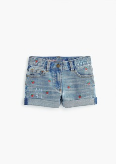 J.Crew Girls' Madewell X crewcuts strawberry embroidered jean short