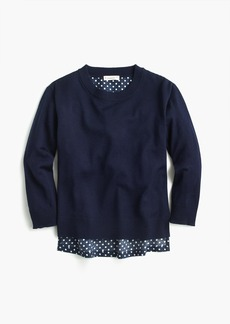 J.Crew Girls merino wool popover sweater