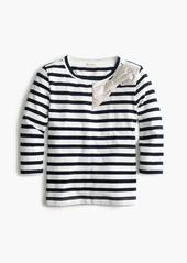 J.Crew Girls' metallic bow striped T-shirt