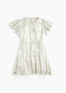 J.Crew Girls' metallic flutter-sleeve dress