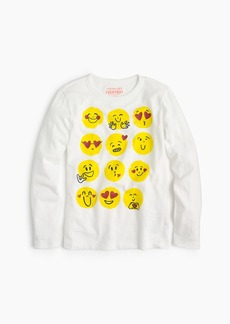 J.Crew Girl's multi-emoji T-shirt