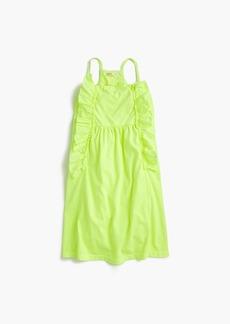 J.Crew GIrls' neon ruffle dress