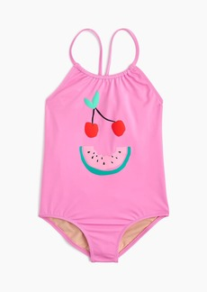 J.Crew Girls' one-piece swimsuit in fruit face