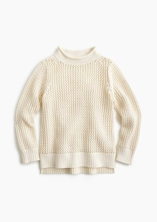 J.Crew Girls' open-knit beach sweater