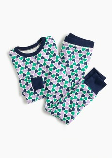 J.Crew Girls' pajama set in hearts
