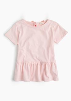 J.Crew Girls' peplum T-shirt