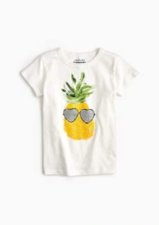 J.Crew Girls' pineapple T-shirt