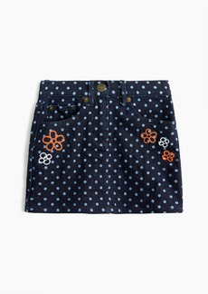 J.Crew Girls' polka-dotted denim skirt