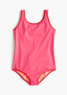 J.Crew Girls' reversible one-piece swimsuit with cut-out