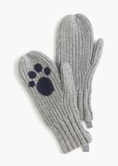 J.Crew Girls' ribbed kitty cat mittens