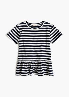 J.Crew Girls' ruffle-back T-shirt