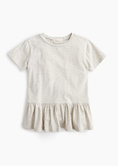 J.Crew Girls' ruffle-back T-shirt