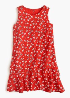 J.Crew Girls' ruffle-hem dress in fresh daisies