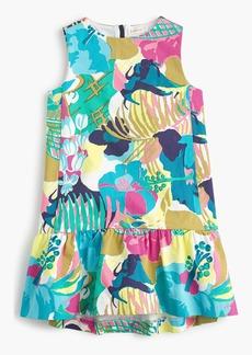 J.Crew Girls' ruffle-hem dress in seaside floral