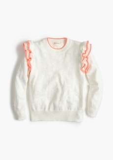 J.Crew Girls' ruffle popover sweater