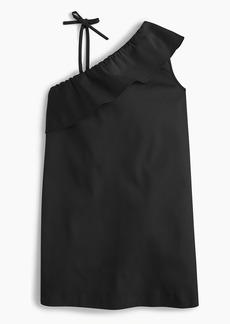J.Crew Girls ruffle-shoulder dress in stretch faille