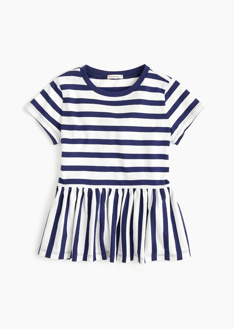 J.Crew Girls' ruffle-trim T-shirt