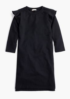 J.Crew Girls' ruffle-trimmed long-sleeve dress
