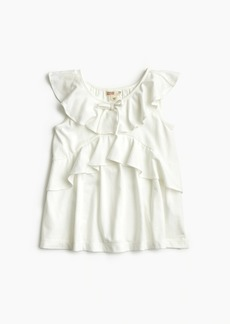 J.Crew Girls' ruffle-trimmed top