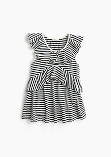 J.Crew Girls' ruffle-trimmed top in stripes