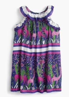 J.Crew Girls' ruffly dress in menagerie print