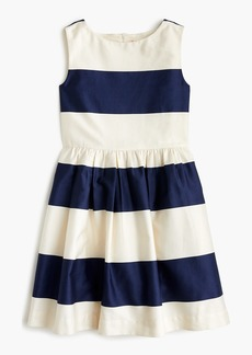J.Crew Girls' rugby-striped dress in sateen