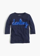 "J.Crew Girls' sequin ""darling"" T-shirt"