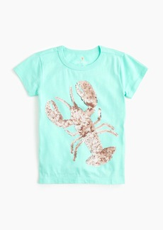 J.Crew Girls' sequin lobster T-shirt