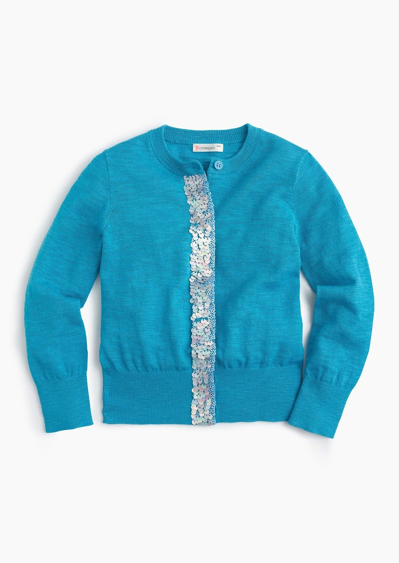 J.Crew Girls' sequin-panel cardigan | Sweaters - Shop It To Me