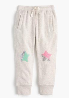 J.Crew Girls' sequin-star sweatpants