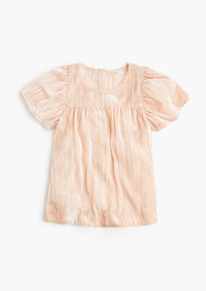 J.Crew Girls' short-sleeve velvet top