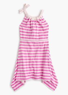 J.Crew Girls' shoulder-bow striped handkerchief dress