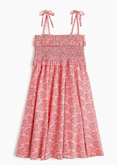 J.Crew Girls' smocked-bodice dress in umbrella print