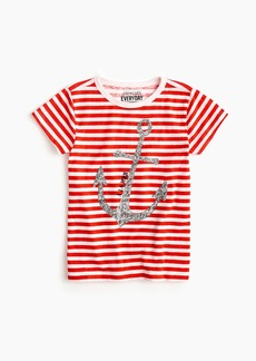 J.Crew Girls' sparkly anchor T-shirt