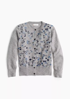 J.Crew Girls' star-covered cardigan sweater
