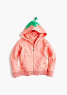 J.Crew Girls' strawberry hoodie