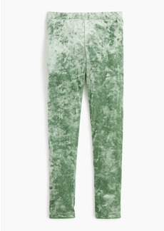 J.Crew Girls' stretch crushed velvet legging