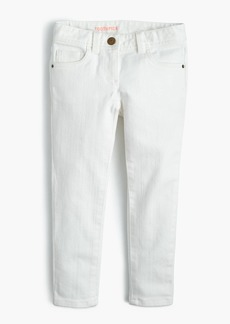 J.Crew Girls' stretch toothpick jean in white