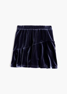 J.Crew Girls' stretch velvet skirt