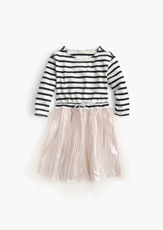 J.Crew Girls' stripe-and-shimmer dress